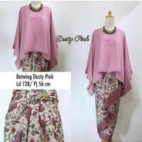 stelan Kebaya Batik Kalong Jumbo Ikoni blouse dan rok lilit