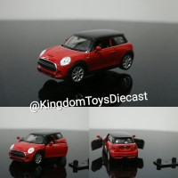 New mini hatch cooper red Skala 32 34 36 welly nex diecast miniatur