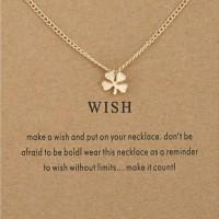clover necklace / wish necklace / kalung lucky / kalung keberuntungan
