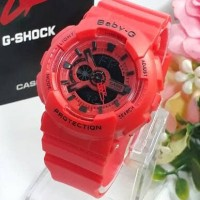 Jam tangan ladies/cewek Baby G BA110 red