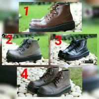 sepatu pria boots blackmaster new underground original branded.