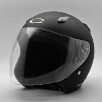 Helm Half Face Cargloss Ycn Black Doff