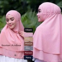 Jual Jilbab Instan Hijab Bergo Nonpad Kerudung Tali Instan Aishaa Murah