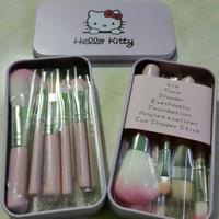 Jual Brush Makeup Multifungsi   Kuas Wajah Hello Kitty 1 Set Lengkap Murah