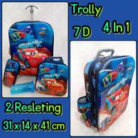Jual Tas Koper Trolly 7D 4in1Double Resleting 2 Ruang Cars ( Murah, Grosir, Murah