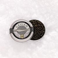 AKI Imperial Ossetra Sturgeon Caviar Malassol Telur Ikan Mentah Import