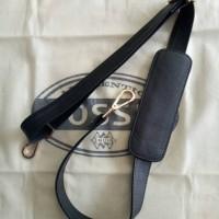 Black/ Hitam Tali Panjang Tas Long Strap Kulit Sapi Fossil Maddox VRV