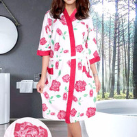 "HOT SALE Kimono Handuk Ibu Cantik ""Beuty Rose"" -WKF001"