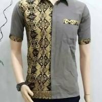 Jual Baju koko batik motif prada berkilau Murah
