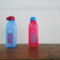 Jual tupperware eco square bottle 500ml merah - biru ( 1 set isi 2 ) Murah