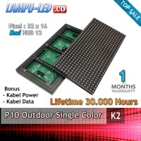 Modul LED Running Text Panel P10 Outdoor Merah RED - Diskon