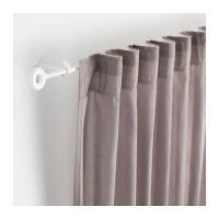 Set Batang Rel Gorden + Endcap + Braket IKEA IRJA 140cm Vitrase Gordyn