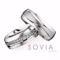 cincin kawin bahan palladium 50% dan Emas Putih 75% / cincin lamaran