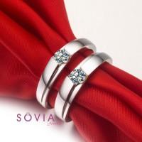 cincin kawin bahan platina dan emas putih  / cincin couple