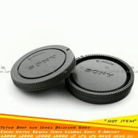 Body & Rear Cap Tutup Body Dan Lensa Belakang Sony E-Mount Nex6 A7 dll