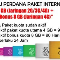 Kartu Perdana Paket Internet 3 - 4 GB