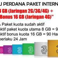 Kartu Perdana Paket Internet 3 - 8 GB