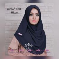 Jual hijab instan Vanila (hitam) pashmina jilbab pasmina kerudung Murah