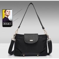 Tas Selempang Sling Bag Wanita Jalan Pergi Elegan HANGOUT Black