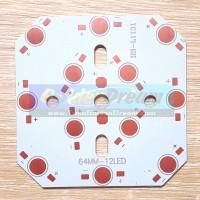 Jual Heat Sink Aluminium Plat Pendingin LED 12W = 12x 1W Universal PCB Heatsink Diameter 78mm Murah