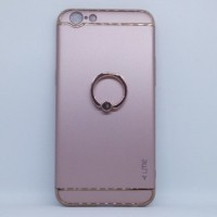 Casing HP 3 in 1 Protection Case Oppo A39 / A57 Ring Rose Gold