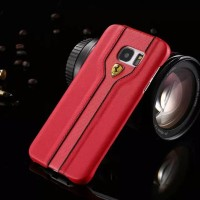 Samsung S6 Flat Casing Ferrari Leather Backcover Series Backcase Sport
