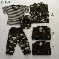 harga Baju Setelan 4 In 1 Kaos Rompi Celana Panjang Topi Army Tentara Anak Tokopedia.com