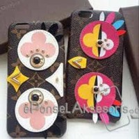 iPhone 7/ 7 Plus LV Bird Leather Case cover