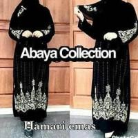 abaya arab / gamis saudi / jubah dubai / bordir hamari free pasmina