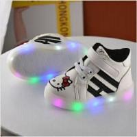 Jual Sepatu Boot Lampu Anak Hello Kitty Size 21-25 Murah