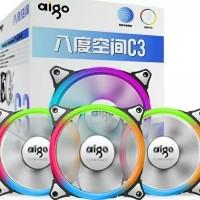 Jual AIGO C3 rainbow rgb fan with controller Murah