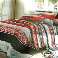 Sprei MURAH TANPA BED COVER Katun Mikro Merah Abstrak 80k 180x200