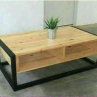 meja tamu minimalis modern untuk ruang tunggu dan meja makan lesehan