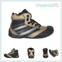 Sepatu Bayi BABY Millioner Sneakers Beige Hitam Stripes BMZR 331