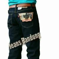 celana jeans standar cwok levis hitam garment