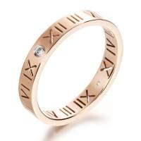 cincin single wanita, cantik bahan titanium asli tidak pudar dan karat