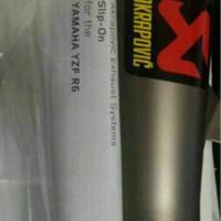 Knalpot Slip On Akrapovic Slovenia Titanium original Yamaha R6