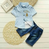 harga Baju Setelan Kemeja Pendek Import | Baju Kemeja Anak Bayi Lucu Fashion Tokopedia.com