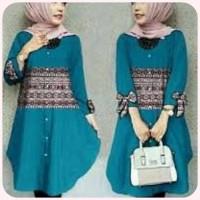 blouse / tunic / busana muslim tosca / baju lengan panjang wanita