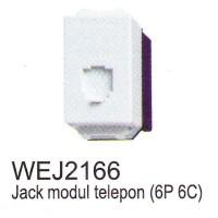 Panasonic Jack Modul Telepon WEJ2166 (6P 6C)