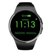 Kingwear Smartwatch Bluetooth for IOS and Android - KW18 - Black