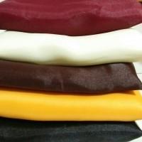 Jual Hijab Organza premium Silk / Hitam / Kuning Murah