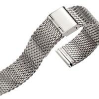 Tali Jam Tangan Rantai Silver Thick Mesh Tebal Milanese Bracelet Strap
