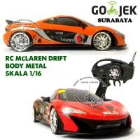 RC Mobil Drift Body Metal McLaren Skala 1:16  Mainan Anak Mobil Remote