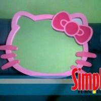 Jual cermin kaca rias gantung dinding ukuran jumbo karakter hello kitty Murah