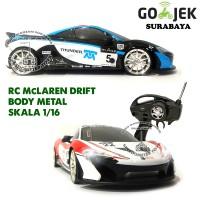 RC Mobil Drift Body Metal McLaren Skala 1/16  Mainan Anak Mobil Remote