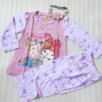 baju tidur/piyama anak perempuan model hello kity warna pink