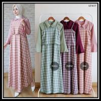 Gamis Muslimah Syari Maxi Long Dress Remaja Hijab Style Modern L05