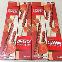 Jual SNACK BISKUIT IMPORT BIG CRUNCH PEPERO STRAWBERRY HARGA MURAH Murah