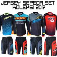 SEPEDA !! ACCESORIES SEPEDA !! Jersey sepeda SET +Celana padding 2017